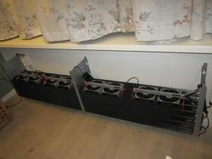 Jaga wandconvector met DBE geïnstalleerd